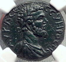 SEPTIMIUS SEVERUS Authentic Ancient 193AD Anchialus Roman Coin Tyche NGC i69132