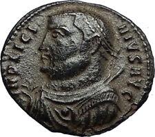 LICINIUS I Authentic Ancient Roman Original 317AD Coin JUPITER & VICTORY i67764