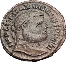 MAXIMIAN  300AD Big Follis Authentic Genuine Ancient Roman Coin Genius i63203