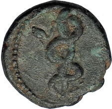 PERGAMON in Mysia 200BC Ancient Greek Coin ASCLEPIUS Medicine SNAKE STAFF i67990