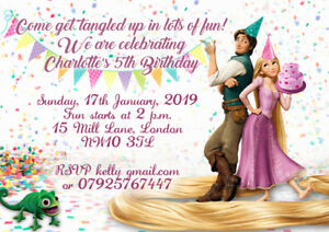 rapunzel birthday invitations for sale