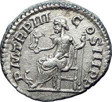 ELAGABALUS 220AD Rome Authentic Ancient Silver Roman Coin Jupiter Zeus i73561