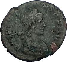 THEODOSIUS I the GREAT 379AD Authentic Ancient Original Roman Coin VOT i65808