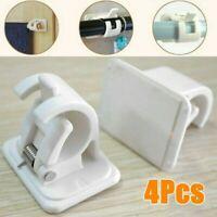 4pcs self adhesive hooks curtain rod