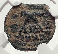 CLAUDIUS & AGRIPPINA Jr Ancient Roman Jerusalem ANTONIUS FELIX Coin NGC i70896