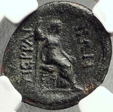 Perrhaiboi in Thessaly Authentic Ancient 2-1cBC Greek Coin ZEUS HERA NGC i68556