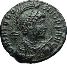 THEODOSIUS I the Great Authentic Ancient 378AD Constantinople Roman Coin i66588