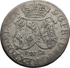 1763 GERMANY German States SAXONY ELECTORATE Genuine Antique Silver Coin i71764