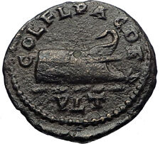 PHILIP I the Arab Genuine Ancient 244AD Deultum Thrace Roman Coin GALLEY i69206
