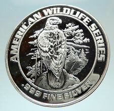 1993 FOXWOODS Casino Wildlife Series Silver Bingo Medal like Coin EAGLE i76555