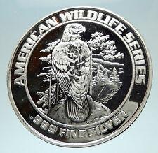 1993 FOXWOODS Casino Wildlife Series Silver Bingo Medal like Coin EAGLE i76555