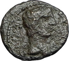 Greek King RHOEMETALKES of THRACE & AUGUSTUS Authentic Ancient Roman Coin i66755