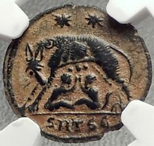 CONSTANTINE I the GREAT 330AD Romulus Remus WOLF Ancient Roman Coin NGC i69154