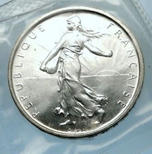 1964 FRANCE French LARGE Silver 5 Francs Coin w La Semeuse SOWER WOMAN i68202