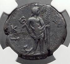 COMMODUS 187AD Alexandria Egypt Tetradrachm Roman Coin HERMES ANUBIS NGC i63187