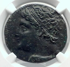 SYRACUSE SICILY Authentic Ancient 240BC Greek Coin of HIERON II Horse NGC i77290