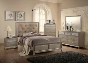 contemporary glass bedroom furniture
