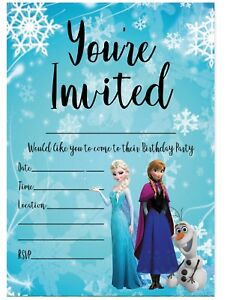 frozen cards invitations for