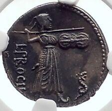Roman Republic 80BC Rome Ancient Silver Coin JUPITER & JUNO SOSPITA NGC i69814