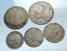 GROUP LOT of 5 Old SILVER Europe or Other WORLD Coins for your COLLECTION i74377