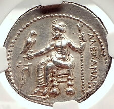ALEXANDER III the GREAT Lifetime Issue TETRADRACHM Silver Greek Coin NGC i69567