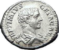 GETA sacrificing over altar 208AD  Authentic Silver Ancient Roman Coin  i73590