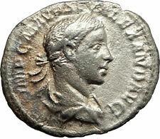 SEVERUS ALEXANDER 222AD Ancient Silver Roman Coin Salus Hygiea Health i76841