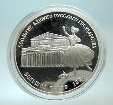 1991 RUSSIA 500 Yrs Statehood Bolshoi Theatre Genuine Silver Proof 3 Coin i76610