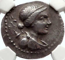 ABYDOS in TROAS Ancient 175BC Tetradrachm Greek Silver Coin ARTEMIS NGC i66894