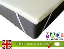 Orthopaedic Memory Foam Mattress Toppers Elasticated Corner Stred Cover Inc