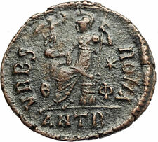 VALENTINIAN II 378AD Antioch Authentic Ancient Roman Coin VRBS ROMA i76686