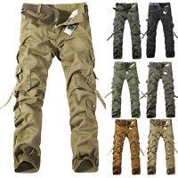 Armée Homme Cargo Décontracté Combat Camouflage Pantalon de Travail Militaire