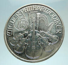 2015 AUSTRIA Vienna Golden Hall Music Instruments LARGE 3.7cm Silver Coin i76560