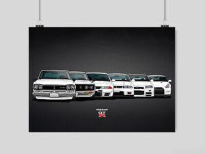 nissan gtr poster for sale ebay