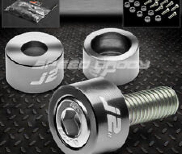 J Aluminum Header Manifold Cup Washerbolt Kit Accord Cg Prelude Bb Gun Metal Fits  Acura Integra