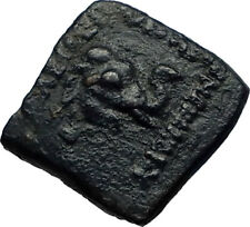 MENANDER I Soter 155BC Ancient India Area Indo Greek Coin ELEPHANT CLUB i67974