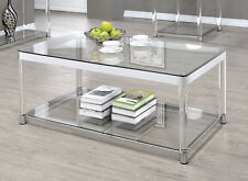 glass coffee tables for sale in stock