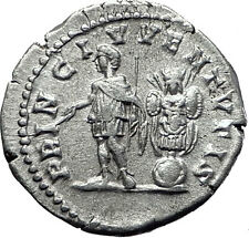 GETA 202AD Rome Silver Genuine Authentic Ancient Roman Coin Trophy i61511