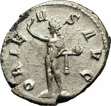 GORDIAN III 243AD Authentic Silver Ancient Roman Coin Nude Sol Sun i77180