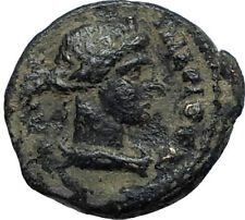 PERGAMON in Mysia 40AD Authentic Ancient Greek Coin ROMAN SENATE & ROMA i67405