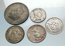GROUP LOT of 5 Old SILVER Europe or Other WORLD Coins for your COLLECTION i75485