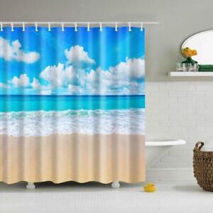 seaside shower curtain for sale ebay