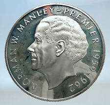 1973 JAMAICA Proof HUGE 4.5cm Premier Norman W Manley Silver $5 Coin i74254
