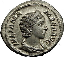 JULIA MAMAEA Severus Alexander Wife Silver Ancient Roman Coin Felicitas  i65409