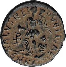 ARCADIUS 388AD Authentic Ancient Genuine Roman Coin VICTORY Angel Captive i67062