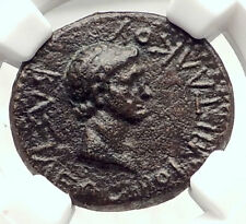 Greek King RHOEMETALKES of THRACE & AUGUSTUS Capricorn Ancient Roman Coin i73320