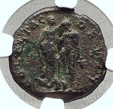 MACRINUS Original Ancient Deultum Thrace Roman Coin ANDROMEDA PERSEUS NGC i72673