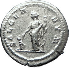CARACALLA 199AD  Silver Authentic Genuine Ancient Roman Coin SALUS i70292