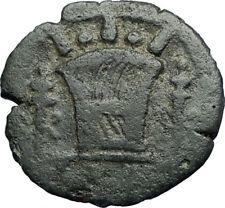 HADRIAN Authentic Ancient 136AD Alexandria Egypt Obol Roman Coin KALATHOS i71241