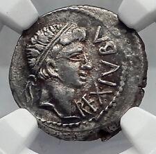 JUBA II & Mark Antony Daughter CLEOPATRA SELENE Silver Greek Coin NGC i60101